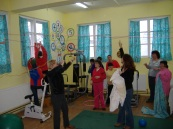 Playing games, movement and excercising