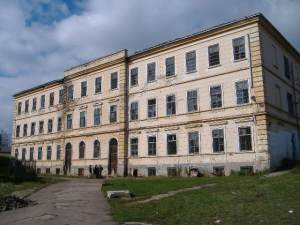 The old abandoned Children's Neuropsychiatric Hospital, housing 1310 children at its height, here and in outbuildings around the town of Siret.