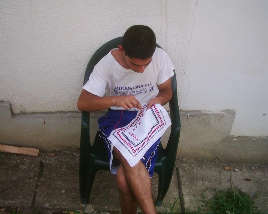 Practising traditional arts